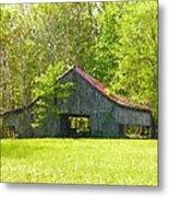 Barn From The Forgotten Farm Metal Print