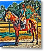 Barn Horse Two Metal Print