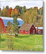 Barn In Autumn Metal Print
