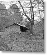 Barn In Black Metal Print