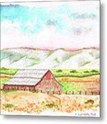 Barn In Cambria - California Metal Print by Carlos G Groppa