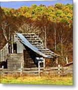 Barn In Fall Metal Print by Marty Koch