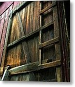 Barn In May Moonlight Metal Print