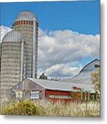 Barn In The Clouds Metal Print