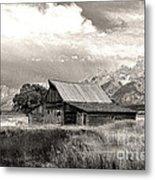Barn In The Tetons Metal Print