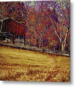 Barn In The Woods-featured In Barns Big And Small Group Metal Print