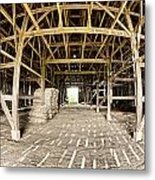 Barn Interior Metal Print