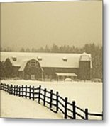 Barn Lake Placid N Y Metal Print