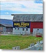 Barn - Mail Pouch Tobacco Metal Print