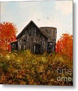 Barn Old Rusted And Deserted Metal Print