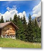 barn on Alpine pasture Metal Print