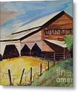 Barn On Rt. 42 Metal Print