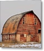 Barn On The Hill Metal Print