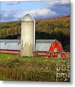 Barn On The River Rd. Metal Print