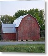 Barn On The Road Metal Print