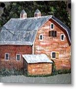 Barn On Va Creeper Trail Metal Print