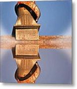 Barn Reflection Metal Print