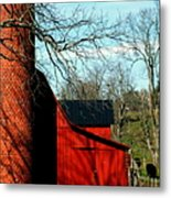 Barn Shadows Metal Print