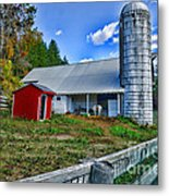 Barn - The Old Horse Metal Print