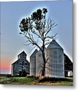 Barn Tree Metal Print