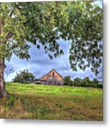 Barn Under A Tree. Metal Print