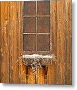 Barn Window 3348 Metal Print