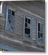 Barn Windows Metal Print