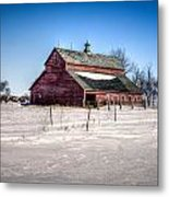 Barn With Melting Snow Metal Print