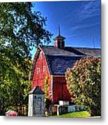 Barn With Out-sheds Brunner Family Farm Metal Print