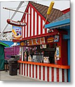 Barnacle Bills At The Santa Cruz Beach Boardwalk California 5d23626 Metal Print by Wingsdomain Art and Photography