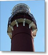 Barnegat Light - Lighthouse Top Metal Print