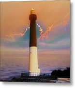 Barnegat Lighthouse In New Jersey Metal Print