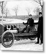 Barney Oldfield And Henry Ford Metal Print