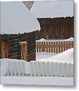 Barns And Fences Metal Print