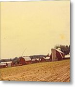 Barns And Landscape Metal Print
