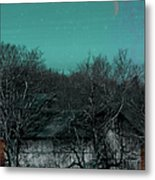 Barns-featured In Visions Of The Night Group Metal Print