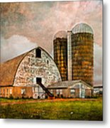 Barns In The Country Metal Print