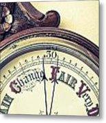 Barometer Metal Print by Tom Gowanlock