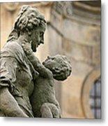 Baroque Statue Depicting Motherhood Metal Print