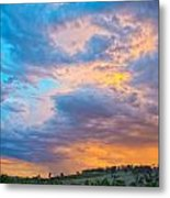 Barossa Valley Sunset Metal Print