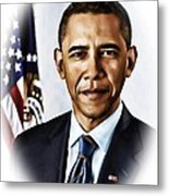 Barrack Obama Metal Print