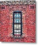 Barred Windows On Brick Metal Print