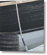Barrel And Ship Metal Print