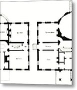 Barrel House Floor Plan In Landscape Metal Print