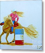 Barrel Racer Metal Print