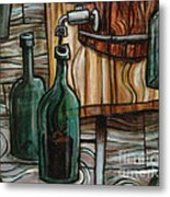Barrel To Bottle Metal Print by Sean Hagan