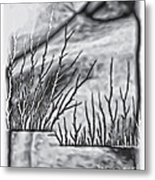 Abstract Trees On Barren Landscape Metal Print