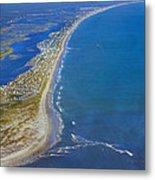 Barrier Island Aerial Metal Print