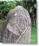 Barriles Carved Stone Indian Metal Print
