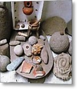 Barriles Indian Relics Metal Print